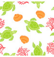 pattern with turtle vector image vector image