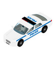 police car isometric view isolated on white vector image vector image