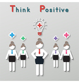 positive thinking teamwork business concept vector image vector image