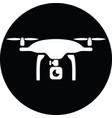 quadcopter drone with camera icon vector image