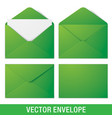 realistic green envelope mockups vector image vector image