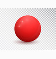 red ball isolated on transparent background vector image