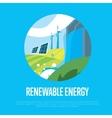 Renewable energy Sun water and wind power vector image
