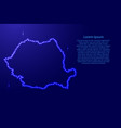 romania map from luminous blue star space points vector image