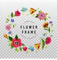 round flower frame for invitation or greeting card vector image