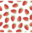 seamless pattern of ripe strawberries vector image