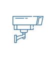 security camera line icon concept security camera vector image vector image