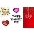 set happy valentines day vector image vector image