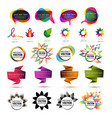 set of abstract elements vector image vector image