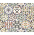 set of hexagonal patterns vector image vector image