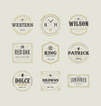 set of retro vintage hipster sign emblem design vector image