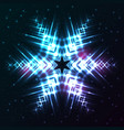 shining abstract star snowflake vector image vector image