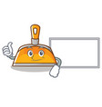 thumbs up with board dustpan character cartoon vector image vector image