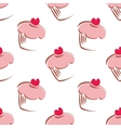 Tile cupcake pattern or wallpaper background vector image vector image