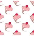 Tile cupcake pattern or wallpaper background vector image vector image