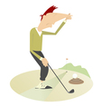 Unusual situation on the golf course vector image