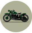 vintage motorcycle a retro vector image vector image