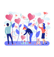web concept for valentine s day celebration vector image