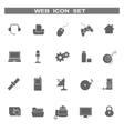 Web icons for business and communication vector image vector image