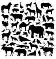 Animals Suilhouette Big Set vector image