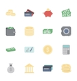 Money and financial flat icons set vector image