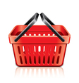object empty shopping basket vector image