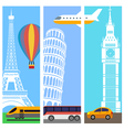 Transport travel vertical banners vector image