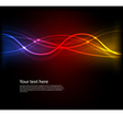 Abstract neon wave vector image