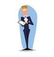 Business man cartoon character- vector image