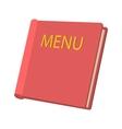 Restaurant menu cartoon icon vector image