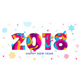 2018 happy new year greeting card snowflakes vector image vector image