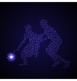 Abstract basketball player silhouette vector image vector image