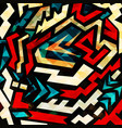 abstract color pattern in graffiti style quality vector image vector image