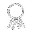 Abstract seal certificate award with ribbons from