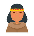 alaska woman icon flat style vector image