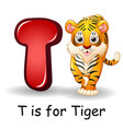 Animals alphabet t is for tiger