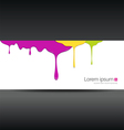 Banner colorful paint dripping vector image vector image