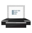 black color flat style high podium stage with vector image vector image
