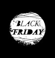 black friday sale poster with white text on vector image