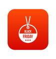 black friday sale tag icon digital red vector image vector image