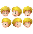 Blonde boy vector image
