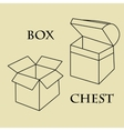 Box chest pattern vector image vector image