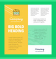 burger business company poster template with vector image