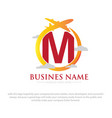 business travel logo designs vector image vector image