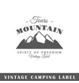 camping label vector image vector image
