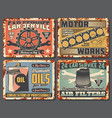 car spare parts motor oil engine auto tools vector image vector image