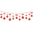 christmas balls hanging background vector image vector image