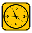 Clock button vector image