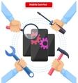 Concept Mobile Service Repair Gadgets vector image