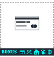 credit card icon flat vector image vector image